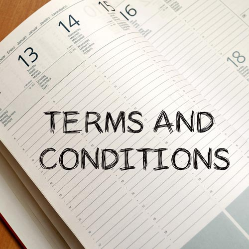 Lecture Series Terms and Conditions