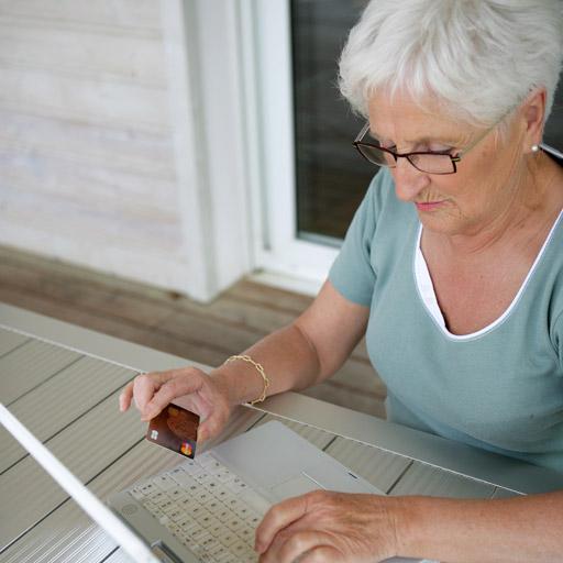 Women paying online
